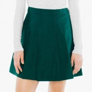 American Apparel Forest Green Tennis Skirt